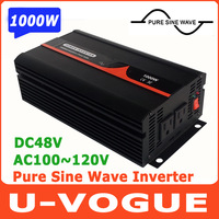 Free Shipping!! 2000W Peak Power 1000W Off Grid Inverter, Pure Sine Wave Inverter DC48V-AC100V, 110V, 120V
