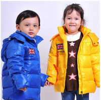free shipping !Foreign trade the single children down jacket boy female children's clothes