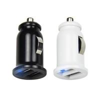 Free DHL Shipping 100 pcs \lot 5V2.1A Dual USB Car Charger for Smart  phones