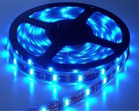 free shipping 5m 300LED 5050 smd led chip, waterproof 12V led lights for clothing/60leds 5050 led strip