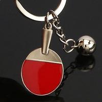 Free Shipping Table Tennis Ball Keychain Cute Key Chain Novel Key Ring Holder Zinc Alloy Key Holder Promotion Key Ring