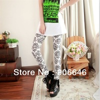 New Fashion knitting LG-036 2013 Korean design pants good elastic Leggings phoenix Totem 2 Colors FREE SHIPPING 1PC/LOT