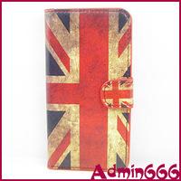 New Style Retro UK Flag United Kingdom Flag High Quality Luxury Leather Case Cover Skin For HTC One Mini M4 601e