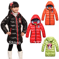 2013 Winter warm Down coat Mickey Children Outerwear Coats Duck's Down Parkas Thickening Casual Brand clothing