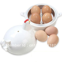 FREE SHIPPING new form four eggs microwave oven steaming device