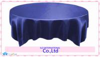 Navy Blue Bulk Sales For 100% Brand New  Satin Table Overlay Tablecloth For Weddings
