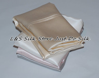 Free shipping/100% silk pillowcase/2 sides silk/pillow case/cover/plain dyed/USA style stardend/queen size#ls1503-1