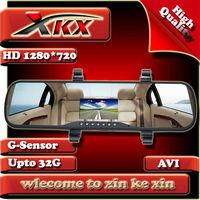 New Full HD1280*720 5.0MP Rearview Car Recorder DVR Black Box Video Cmaera + AV-OUT + H.264 FreeShipping