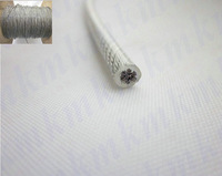Wholesale 100M/Roll Overall Dia 1.0MM Transparent  PVC Coated Stainless Steel Wire Rope (0.8MM Wire Rope With 0.1MM Coating)
