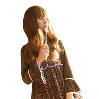 N Lady Girl Fashion Stylish Long Curly Wavy Wave Neat Bangs Light Brown Full Wig