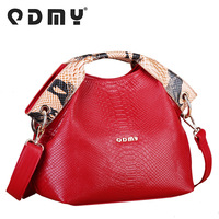 free shipping-Women's crocodile pattern handbag genuine leather women's bags red women's 2013 cross-body handbag messenger bag