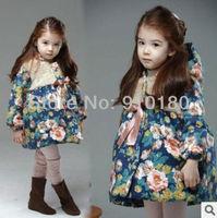Wholesales 5pcs/lot 2014 New Winter Korean style Girls' Fashion cotton padded jacket kids thick coat girls warm outwear