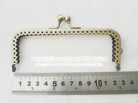"New arrival 4.9"" 12.5cm 20pcs square bronze glossy metal sewing bag frame purse frame for patchwork"