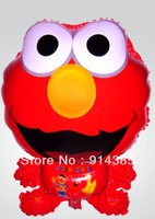 Free shipping wholesale 50pcs/lot aluminum foil helium balloons sesame street cartoon balloon elmo balloon