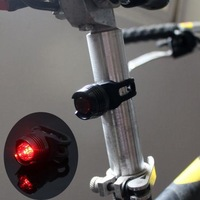 Black Bike Bicycle Red LED Rear Light 3 mode Waterproof Tail Lamp Quick Release