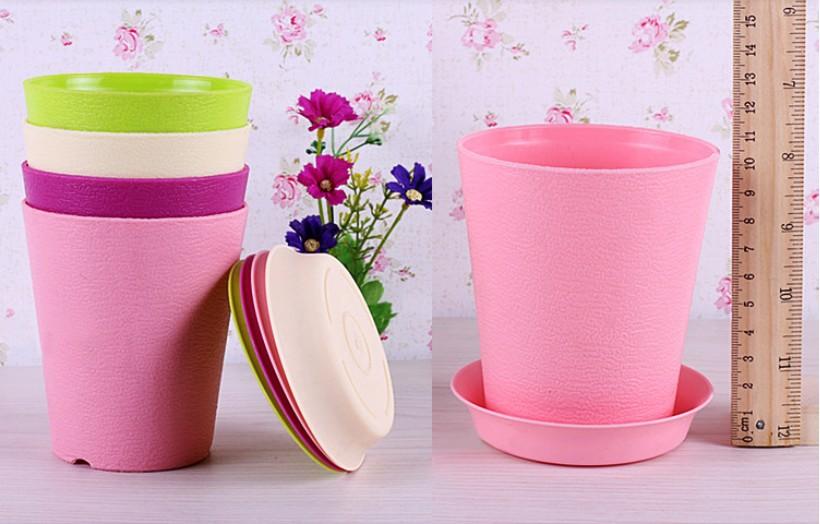 livraison gratuite 8 pcs lote pots de fleurs mignon violet rose vert blanc jardin d coratif en. Black Bedroom Furniture Sets. Home Design Ideas