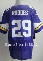 Minnesota 29 Xavier Rhodes 2013 Purple Elite Football Jerseys Sewn logos Free Shipping