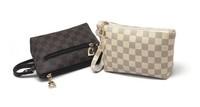 Free shipping!2013 fashion plaid women's handbag small day clutch Day clutch wallet female cosmetic bag
