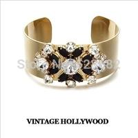 Limited ! vintage hollywood gorgeous vintage gem inlaying street wide bracelets female