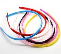 Free Shipping! Mixed Randomly Plastic Teeth Hair Band Headbands 8mm wide, sold per packet of 12 (B16217)