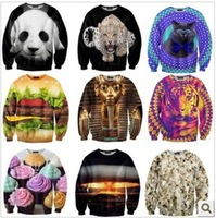 HOT!! New 2013 Autumn-Summer Sweatshirt woman,Tide Card 3 D women's Hoodies Retail Or Wholesale 28 Model Size S- M-L-XL
