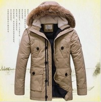 2014 winter men's brand thickening down jacket,plus size Warm waterproof military jacket,winter casual jacket and coats