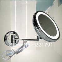 Fashion popular led lighting 1958 retractable mirror bathroom mirror single face mirror makeup mirror