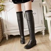 Comfortable gentlewomen tall boots autumn and winter slim knee-length boots young girl back strap tassel boots sexy boots ball