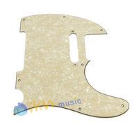 3Ply Aged Pearloid Guitar Pickguard Tele Telecaster Style Guitar Pickguard Aged Cream Pearl