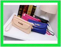 B146 Drop shipping The new patent leather crocodile pattern hand bag clutch minimalist candy multicolor handbags