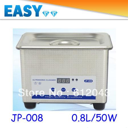 Free Shipping 220V/110V 0.8L/50W Skymen JP-008 Mini Ultrasonic Cleaner Digital Cleaning Machine(China (Mainland))