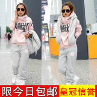 girls winter sets hoodies sweatshirts  plus size clothes sets vest sports set sweatshirt women coats hoody winter jackets womens