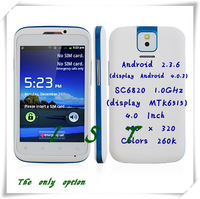 MP991(sphs on hsdroid) Smartphone 4.0 Inch Android 2.3 SC6820 1.0GHz Dual SIM WiFi FM Bluetooth Cheap Phone-Free shipping