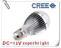 4X 12V 3W high power LED bulb lamp DC lamp solar panels