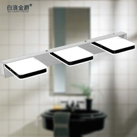 Free Shipping Modern Quality home mirror lamp 85-265V 9W 500mm Natural White led wall light inconce lamp washroom lighting
