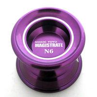 Free shipping High Quality Magic YoYo N6  Magistrate Purple Alloy Aluminum Professional Yo-Yo Metal ball +2 Strings best choose