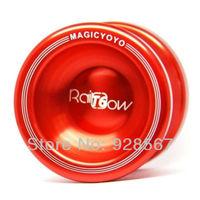 Free shipping Magic Yo Yo T5 Overlord Red Aluminum Alloy Metal Professional Yo-Yo toys with 2 Strings best choose