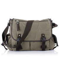 Cotton casual fashion horizontal canvas messenger bag