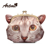 Artmi2013 spring cat print cute little bag chain coin purse handbag messenger bag