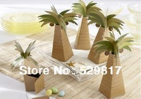 Wholesale Palm tree, Coconut tree design 80pcs/lot Baby shower favors box and baby shower gifts for guest free shipping