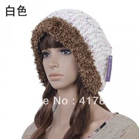 5 COLOUR Women Winter Hats Caps Sale New Fashion Warm Loose Wool Knitted Headband hat turban scarf beanies female fashion cap