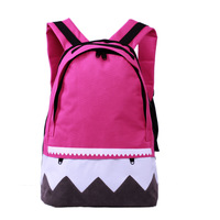 Preppy style wave backpack student backpack casual school bag female big