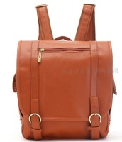 Spring fashion vintage backpack school bag backpack travel bag female bag brown