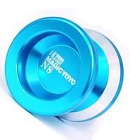 Free shipping Magic YoYo N8 D-style Blue Super Alloy Aluminum Professional Yo-Yo Metal ball with 2strings High Quality