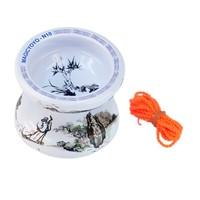 Free shipping Magic YoYo N10 Ceramic Chinese Style Professional Yo-Yo ball Higurashi with 2 Strings best choose