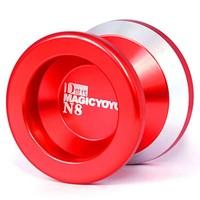 100% High Quality Magic YoYo N8 D-style Red Super Red Aluminum AlloyProfessional Yo-Yo Metal ball with 2strings Free shipping