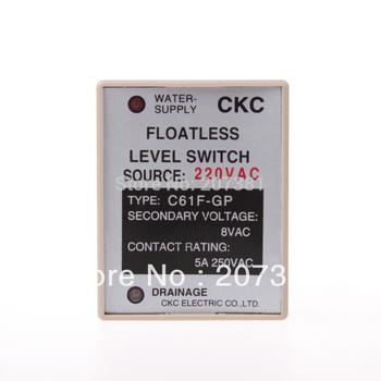 FREE SHIPPING AC 220V Liquid Control Relay Floatless Level Switch Sensor 8 Pin SPDT C61F-GP