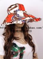 2013 hat female summer sun-shading sun hat anti-uv visor big summer hat