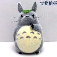 Totoro flock printing hand-done 20cm doll piggy bank piggy bank
