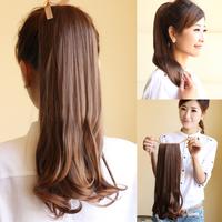 Short pear flower ponytail wig horseshoers scroll waves dull long design